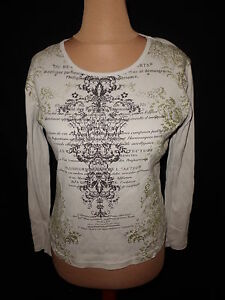 T-shirt-manches-longues-Caroll-Blanc-Taille-42-a-63