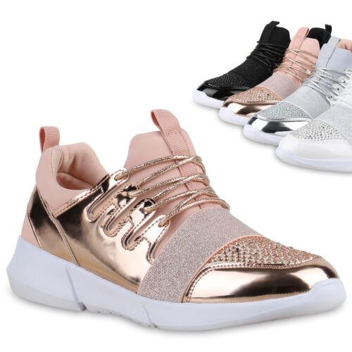 Damen Sportschuhe Laufschuhe Lack Runners Sneakers 815449 Trendy