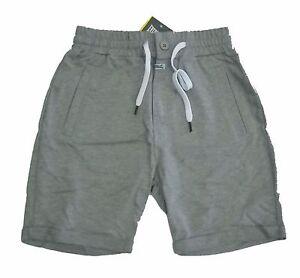 Pantalone-corto-sport-EVERLAST-uomo-short-grigio-con-risvolta-senza-felpa
