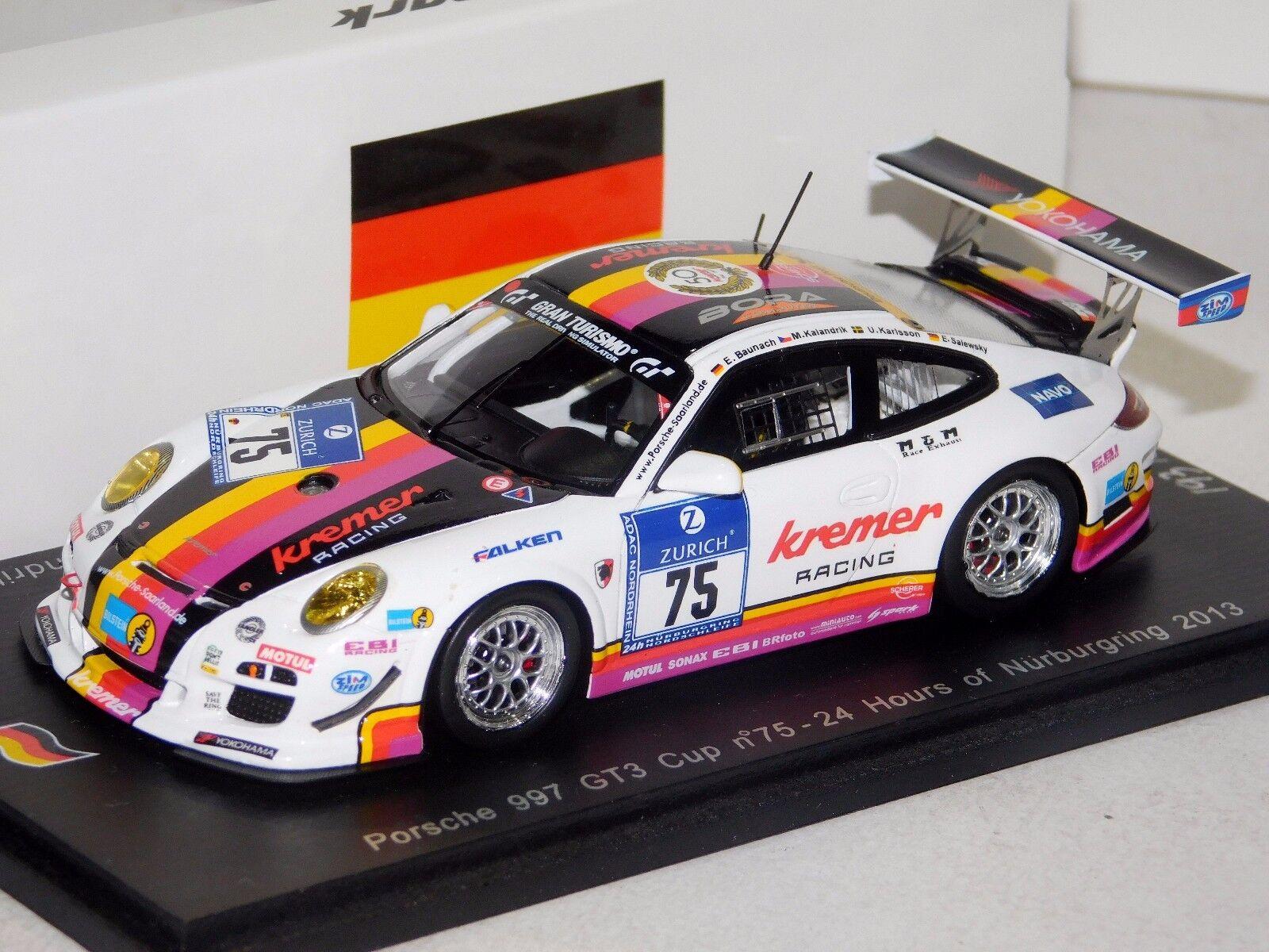 Porsche 997 GT3 Kremer Racing Nurburgring 2013 Spark SG093 1 43