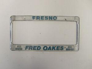 Fred Oaks Motors Fresno Ca Dealership License Plate Frame