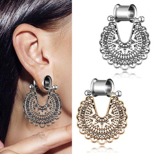 Steel Ears Gauges Double Flare Flesh Tunnels Piercing Plugs Stretchers ExpanTPO