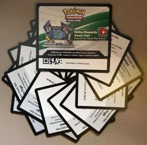 25x Pokemon TCG Cosmic Eclipse Booster Pack PTCG Online Only Unused Codes!