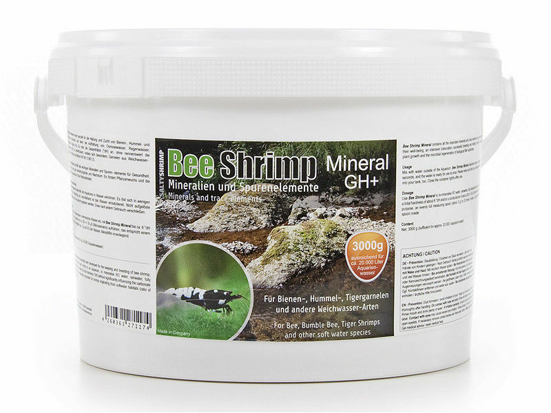 Salty Shrimp GH+ Minerals and Trace Elements 3000g Crystal Shrimp CRS Bee Tank