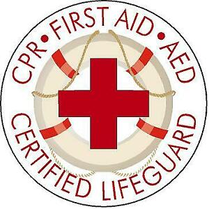 Certified CPR Lifeguard Rescue Tube Reflective or Matte vinyl decal sticker