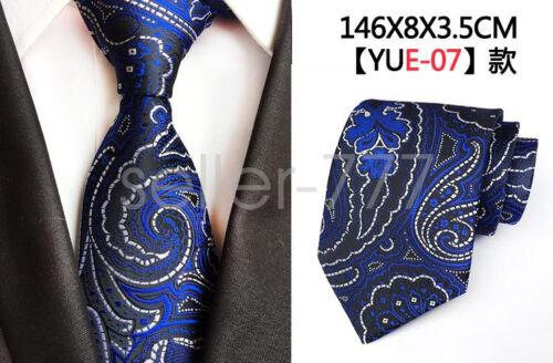 Hommes magnifique Paisley Cravate Floral Motif Écossais Jacquard Soie Tissée Cravate Cadeau Mariage