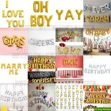 16 small foil balloon letter age birthday party message name baby spell