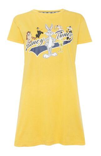 Primark Ladies Looney Tunes Mustard Nightwear Long Tshirt Night BNWT