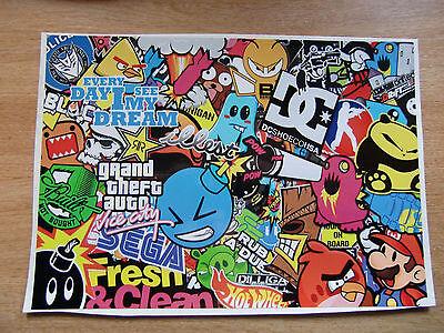 A4 size Sticker Bomb sheet 1