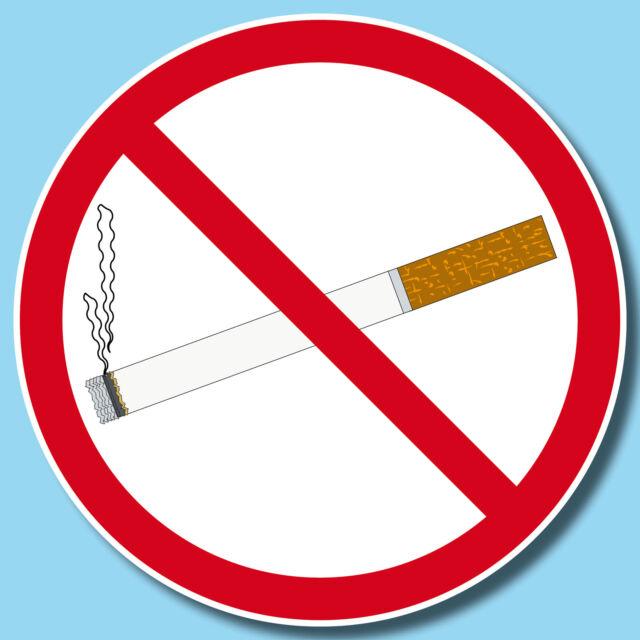 Aufkleber 15cm Sticker Rauchen Verboten Nichtraucher Rauchverbot Warn Schild