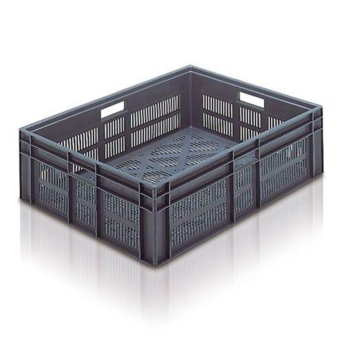 2 nouvelles retrait Ventilé Gris Stockage Conteneur Boîte Caisse 87L