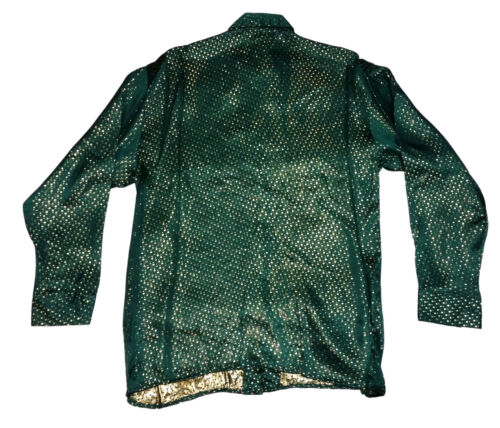 Kid/'s Silk Shirt Metallic Design Long Sleeve