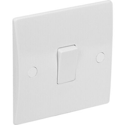 AXIOM Modern Fan Isolator Switch Triple 3 Pole Moulded White Curved Edge Slim
