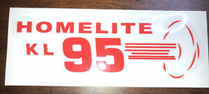 Homelite Go-Kart Decal OLD SCHOOL 1960 KL 95 Decal Reproduced From Original