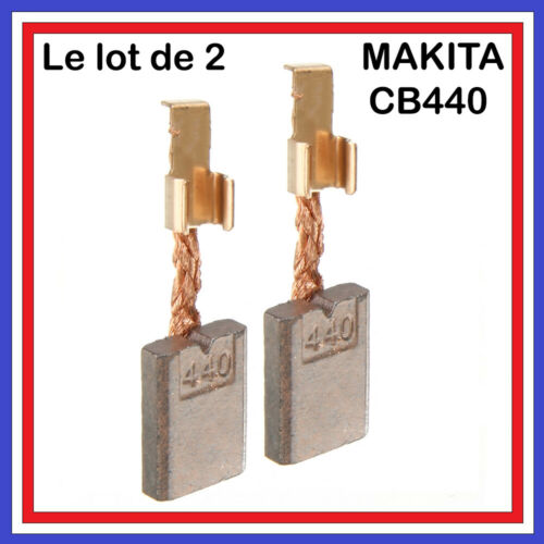 //// Lot 2 balais Charbons \\  MAKITA //// CB440  Perçeuse Visseuse 3 x 10 x 13.5 mm