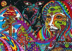psychedelic trippy art silk a3 art print photo poster amk3139 ebay