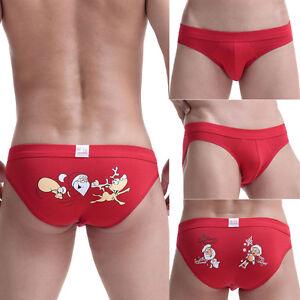 New Men's Christmas Shorts Xmas Trunks Underwear Santa ...