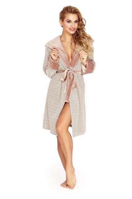 Women's Luxury SOFT Cotton Bath Robe Housecoat Dressing Gown Bathrobe with Hood
