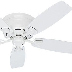 Hunter 48 casual outdoor ceiling fan white w white plastic image is loading hunter 48 034 casual outdoor ceiling fan white aloadofball Image collections