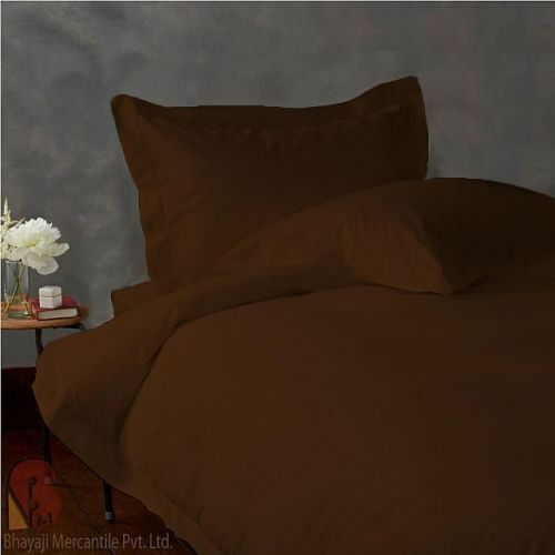 900 TC EGYPTIAN COTTON BEDDING SET 4 PCs FITTED SHEET+DUVET COVER CHOCOLATE