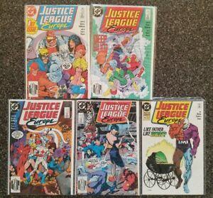 JUSTICE-LEAGUE-EUROPE-1-2-3-4-12-LOT-of-5-Comics-DC-COMICS