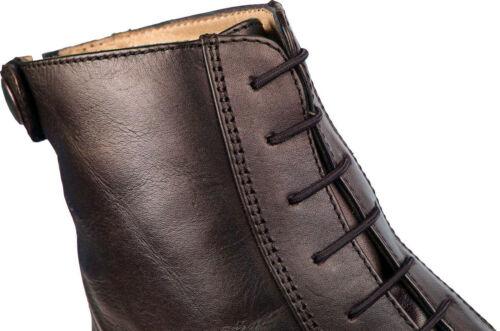 QHP Élastique Lacets pour reitstiefeletten et reitstiefel noir marron