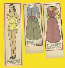 Gene Tierney Rare Vintage 1950s Movie Film Star Paper Doll Sweden