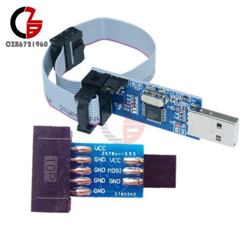 10 Pin Convert to Standard 6 Pin Adapter Board+USBASP USBISP AVR Programmer USB