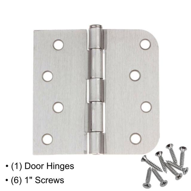 GlideRite Hardware 4000-SQ-58-SN-30 4 inch Steel Door Hinges 0.625 Radius /& Square Corners Satin Nickel Finish 30 Pack