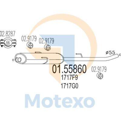 Affidabile Scarico Mts 01.55860 Fiat Scudo 1.9 Td 92bhp 01/95 - 12/03- Per Migliorare La Circolazione Sanguigna