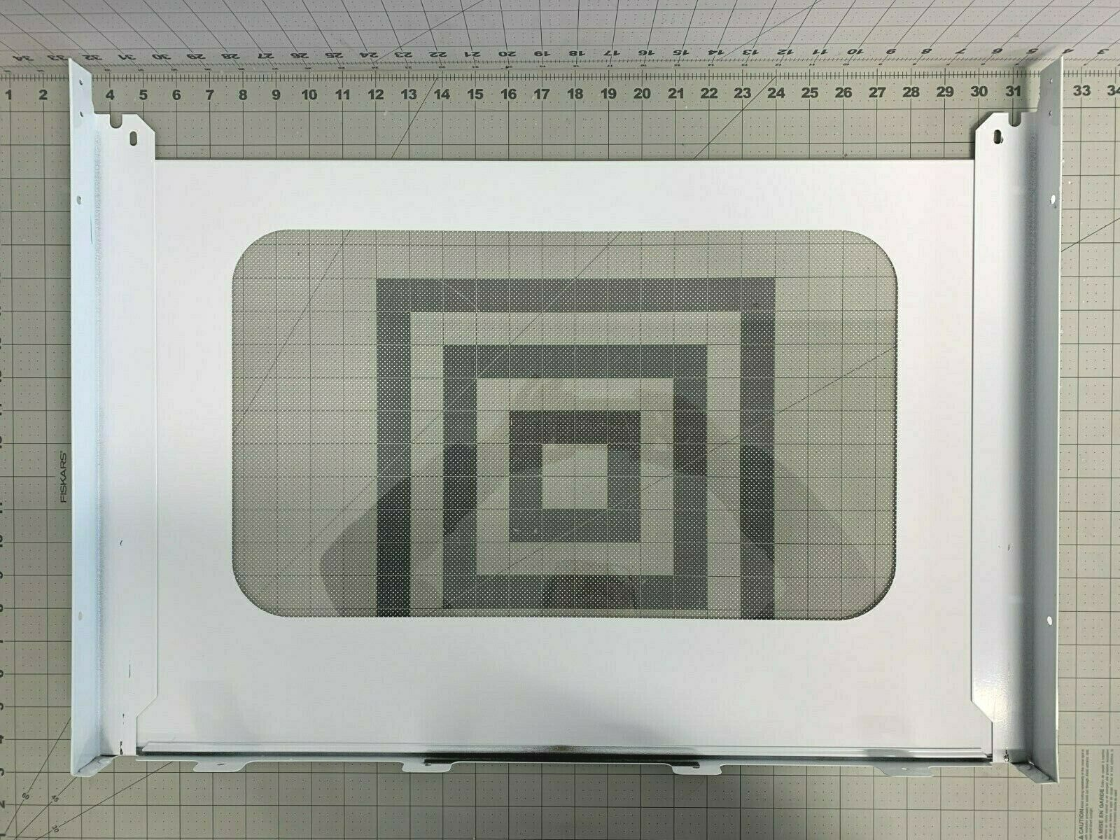 GE Oven Stove Range White Door Glass Outer w// frame WB57T10160
