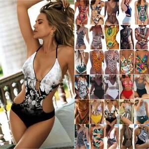 Frauen Push Up Bikini Monokini Badeanzug Einteilige Badebekleidung Sexy Strand