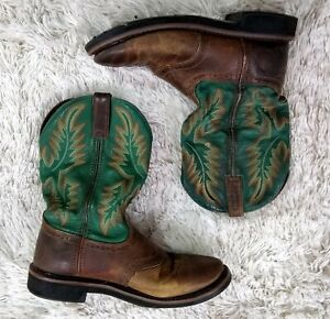 justin leather work boots