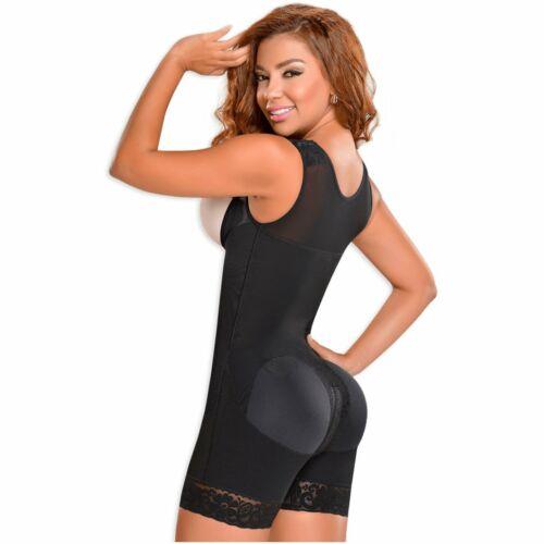 Details about  /Fajas MYD 0065 Mid Thigh Bodysuit Women Shaper Powernet High Compression Girdle