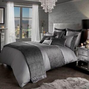 Kylie Minogue Saturn Diamante Trim Grey Silver Velvet Bedding Spring/Summer 18