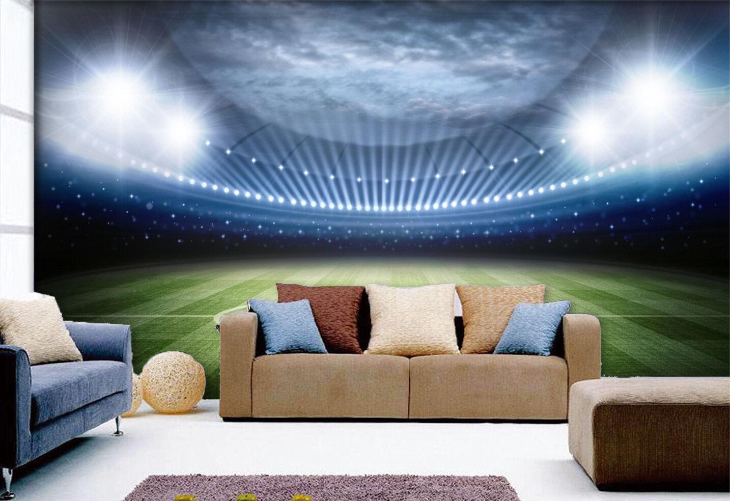 3D Football Field Cloud 835 Wallpaper Mural Paper Wall Print Wallpaper Murals UK