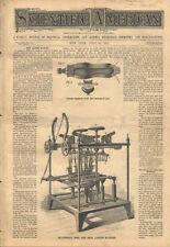 1881 Shoe Manufacturing Making Ellithorps Boot Shoe Lasting Antique Machine