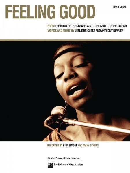 Feeling Good Nina Simone Song For Piano Vocal Sheet Music Chords
