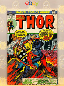 The-Mighty-Thor-208-8-0-VF-1st-4th-Dimensional-Man-App-1973-Bronze-Age