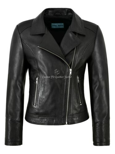 Fashion Leather Sleeves Black Biker Jacket Napa 2225 Quilted Ladies Style Felpa wz6YqOz