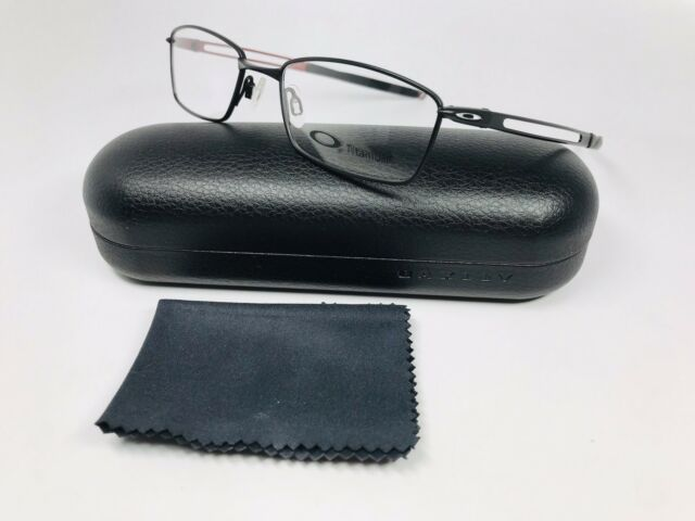 621e9f6ad20 New Oakley OX5071-0152 Satin Black TITANIUM COIN Eyeglasses 52mm with Case