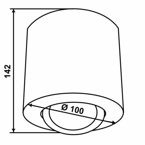 LED Aufbaustrahler Deckenspot Aufbauleuchte Downlight Spot schwenkbar GU10-230V