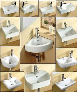 Bathroom cloakroom wall hung wall mounted corner - Lavandino angolo bagno ...