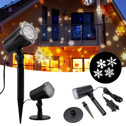 Waterproof Christmas Lights LED Projector Moving Landscape Xmas In//Outside Decor