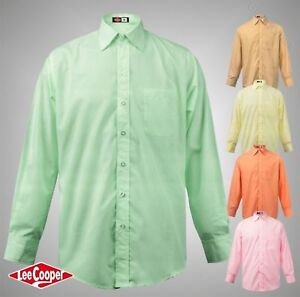 Mens-Lee-Cooper-Casual-Long-Sleeve-Pocket-Shirt-Top-Sizes-S-M-L-XL-XXL