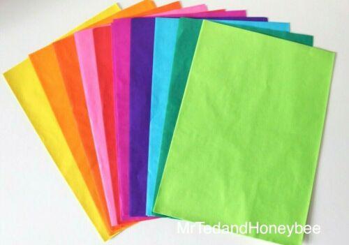 20 Fogli Arcobaleno carta velina A4-Color Bleeding-Bambini Artigianato Set di attività
