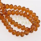 72pcs 8mm Faceted Rondelle Crystal Glass Loose Spacer Beads Topaz
