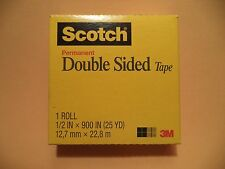 """3M Scotch Double-Coated Tape 665 Double-Sided Roll 1"""" Core Photo Safe"""