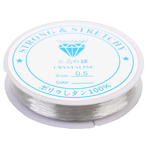 0.7mm /& 0.5mm elastisches Armband String Cord Clear Stretch Bead Cord für