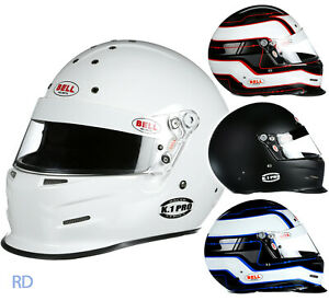 Bell-K1-Pro-Helmet-Snell-SA2015-Auto-Racing-Karting-White-Blk-Red-Blue-Circuit